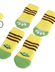 Cães Sapatos e Botas / Meias Branco / Amarelo Primavera/Outono AlgodãoCão Sapatos