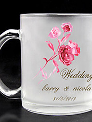 Personalized Frosted Glass - Rose Theme