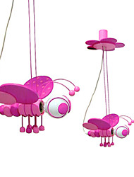 1 Light Pendant Light in Lovely Pink Bee Shape
