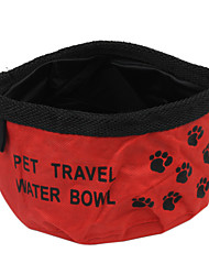Cat Dog Bowls & Water Bottles Pet Bowls & Feeding Portable Foldable Red Blue