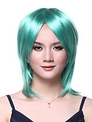 Capless High Quality Emerald Green Straight Long Wig