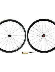 Supernova - 38 mm de fibra de carbono tubulares Juegos de ruedas para bicicleta carretera con la serie CPP