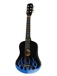 "Lily - (Flame) 30"" Acoustic Guitar with Capo/Strap/String/Picks"