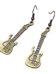 Brincos Compridos Moda Liga Guitarra Jóias Para Festa