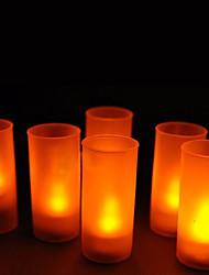12 - LED Candle Light casamento da vela quente Amarelo ou Presentes do partido