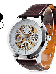 Men's Auto-Mechanical PU Band Analog Wrist Watch (Assorted Colors) Cool Watch Unique Watch