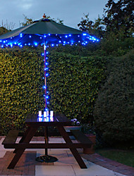 100 Blue Outdoor Led Solar Fairy Lights Christmas Decor Lamp Gifts