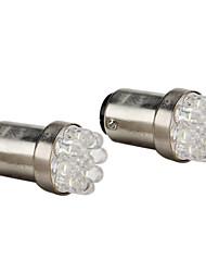 1157 0.4W 9-bombilla LED de luz blanca para las luces de freno de automóviles (2-pack, dc 12v)