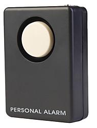 Площадь 130dB Анти-Роб Личная безопасность сигнализация ж / ремешок - черный (6F22 / 9В)