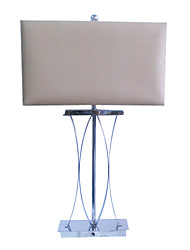 60W Comtemporary Fabric Table Light with 1 Light in Dark Grey