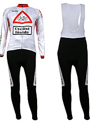 KOOPLUS® Cycling Jersey with Bib Tights Men's Long Sleeve BikeBreathable / Thermal / Warm / Fleece Lining / Ultraviolet Resistant / Front