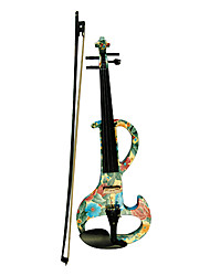 Kinglos - (DSZA-1102) Ebony Parts Electric Violin with Case/Rosin/Bow/Headphone/Cable (Daisy-Design)