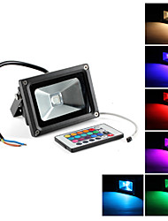 10 W 1 Integrate LED LM RGB / Color-Changing Remote-Controlled Spot Lights AC 85-265 V