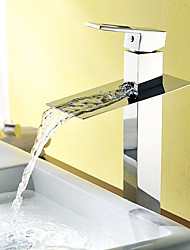 Bathroom Sink Faucets Countertop Waterfall Brass Chrome