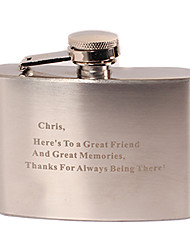 Gift Groomsman Personalized Stainless Steel 4-oz Flask