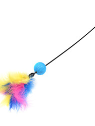 Cat Toy Pet Toys Teaser Feather Toy Candy Random Color Plastic