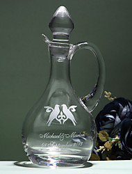 Personalized Name And Date Decanter with Dove Design