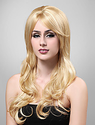 Long European Weave Light Blonde With Golden Brown Hair Wig