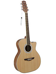 "Hawks 40"" Beginner Cutaway Spruce Plywood Top Satin Acoustic guitar"
