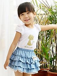 Sommer Mädchen Kurzarm T-Shirt