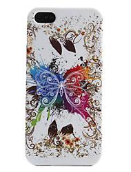 coloré étui souple de motif de papillon pour l'iphone 5/5s
