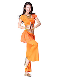 Dancewear Polyester Belly Dance Top and Pant For Ladies More Colors