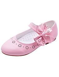 Lovely Kids' Leatherette Flat Heel Closed Toe With Bowknot/Hollow-out Party/Evening Shoes(More Colors)