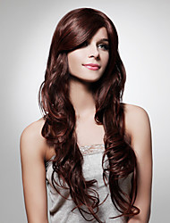 Capless Extra Long High Quality Synthetic Natural Look Auburn European Weave Hair Wig