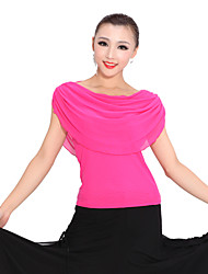 Ballroom Dancewear Tulle Modern Dance Top For Ladies