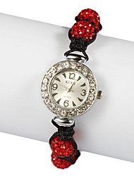 Charming Fabric with Crystal Quartz Dress Watch(More Colors)