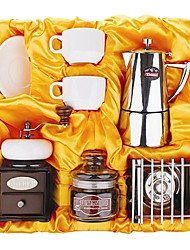 Coffee Series Boxed Gift (Moka & Siphon Pot, Grinder, Cups)T-011