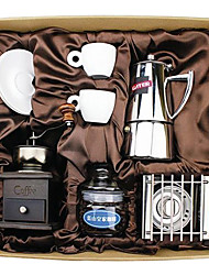 Coffee Series Boxed Gift (Moka & Siphon Pot, Grinder, Cups)T-510