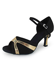Women's Leatherette / Flocking Latin / Ballroom Dance Performance Shoes (More Colors)