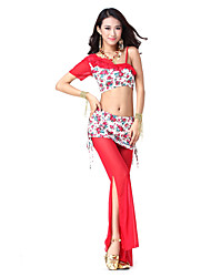 Dancewear Polyester With Pattern Dance Top and Bottom for Ladies More Colors