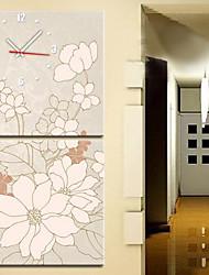 """12 """"-24"""" Moderno Orologio da parete stile floreale in Canvas 2pcs"""