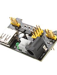 3.3V-5V módulo fornecedor de energia para placa de ensaio MB102 (Preto)