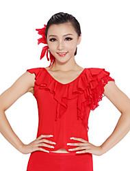 dancewear viscosa / pizzo superiore ballo latino per le signore colori più