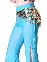 dancewear de metal com moedas de dança do ventre cinto de desempenho para senhoras
