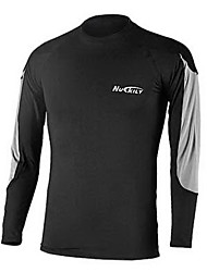 NUCKILY® Men's Long Sleeve Running Underwear Tops Breathable Thermal / Warm Quick Dry Front Zipper Wearable Fall/Autumn Winter Sports Wear