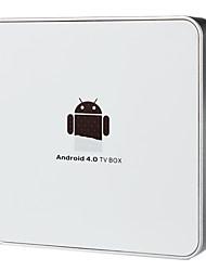 Android 4.0 TV Box di rete con connettore RJ45 / USB 2.0 - Bianco (1 GB DDR2 / 4GB)
