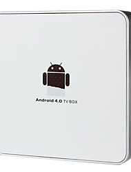 Android 4.0 Сеть TV Box с RJ45 / USB2.0 - белый (1GB DDR2 / 4 ГБ)