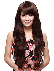 Capless Long Wave Brown High Quality Synthetic Hair Wig