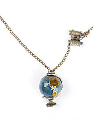 Necklace Pendant Necklaces Jewelry Daily Fashion Alloy / Glass Bronze / Silver / White 1pc Gift
