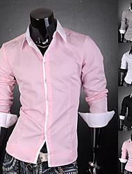 Männer Kontrastfarbe Neck-Shirt