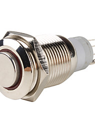 Car Stainless Steel Switch with Red Indicator (DC 12V)
