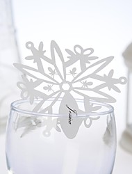 Place Cards and Holders Beautiful Snow Design Place Card (Set of 12)