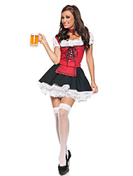 Cosplay Costumes / Party Costume Fancy Red And Black Beer Girl Halloween Costume(2 Pieces)