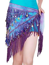 Dancewear pellava paljeteilla suorituskyky vatsatanssi vyö naisille enemmän värejä