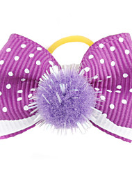 Hair Accessories for Dogs / Cats Red / Green / Blue / Pink / Purple Spring/Fall Terylene