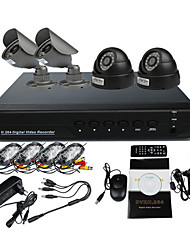 Surveillance Security System mit 2 Outdoor Warterproof Kamera Night Vision And 2 Indoor Nachtsicht-Kamera